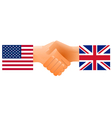 countries handshake vector image
