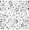 Flower Seamless Floral Pattern or Background Thin vector image