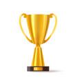3d sport trophy or realistic golden cup vector image vector image