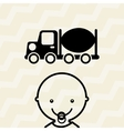baby with toy design vector image vector image