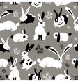 Beautiful pattern with rabbits vector image vector image