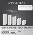 black-white infographics in eps 5 sections vector image vector image
