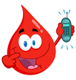Blood Guy Holding A Cell Phone vector image vector image