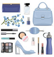 blue female accessories vector image