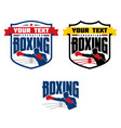 boxing logo vector image vector image