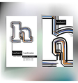 Business card design with letter h vector image