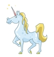 cartoon unicorn vector image vector image