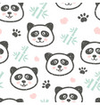 childish seamless pattern with cute panda and vector image vector image