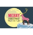 Christmas card with a deerme and easily editable vector image vector image