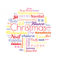 Christmas in different foreign languages vector image