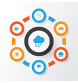 climate flat icons set collection of frosty bow vector image vector image