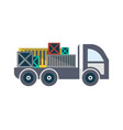 commercial freight truck isolated icon vector image vector image