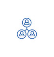 community users line icon concept community users vector image vector image