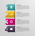 Creative colorful numbered infographic vector image vector image