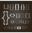 Different hand drawn brackets Bracket icons set vector image vector image