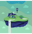 Fantasy flying island vector image vector image