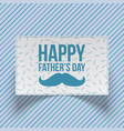 fathers day realistic blue and white gift card vector image