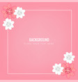 flower square frame pink background image vector image vector image