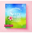 Fresh colorful Spring Save The Date template vector image vector image