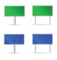 green and blue traffic road sign vector image vector image