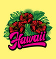 hawaii calligraphic lettering composition vector image
