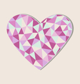 Heart card in in triangles isolated on beige vector image vector image
