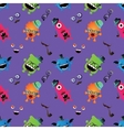Hipster Monster Seamless Pattern vector image vector image