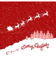 Holiday Christmas card with reindeers vector image vector image