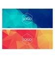Horisontal polygonal banners vector image vector image