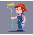 house painter flat character with paint vector image vector image