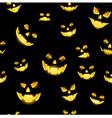jack o lantern seamless vector image vector image