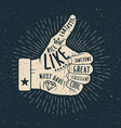 like hand vintage styled vector image vector image
