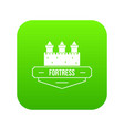 luxury fortress icon green vector image vector image