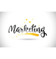 marketing word text with golden stars trail and vector image