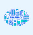 medical drugstore banner pharmacy vector image vector image