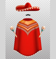 mexican clothes set vector image