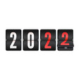 new 2022 year is coming mechanical scoreboard vector image