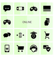 online icons vector image vector image