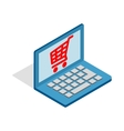 Online shopping in laptop icon isometric 3d style vector image vector image