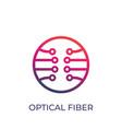 optical fiber logo on white vector image vector image
