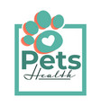 pets health isolated icon vet clinic dog or cat vector image vector image
