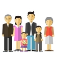 Portrait of happy big family together mother and vector image