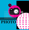 poster sign camera for web design vector image vector image