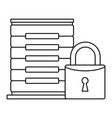 protected server icon outline style vector image vector image