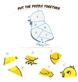 Puzzle game for children chicken vector image vector image