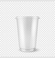 realistic 3d empty clear plastic disposable vector image vector image