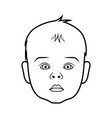 realistic baby face icon isolated vector image vector image