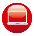 red laptop emblem icon vector image
