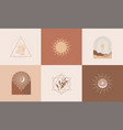 set modern abstract aesthetic backgrounds