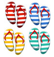 set of stripe sandal vector image